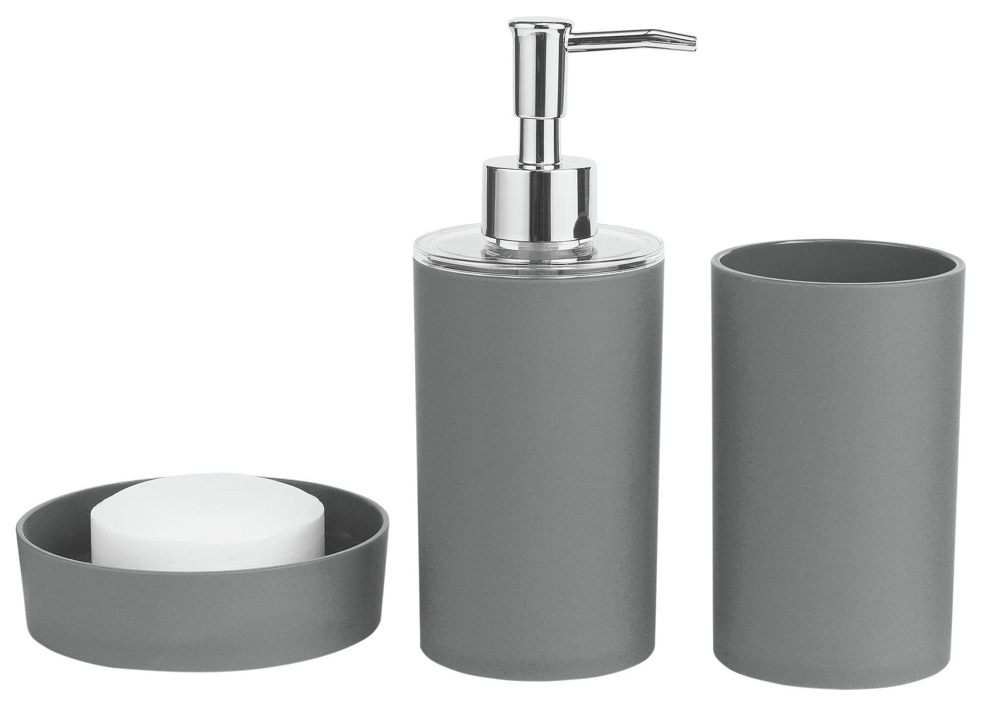 ColourMatch - Bathroom Accessory Set - Flint Grey