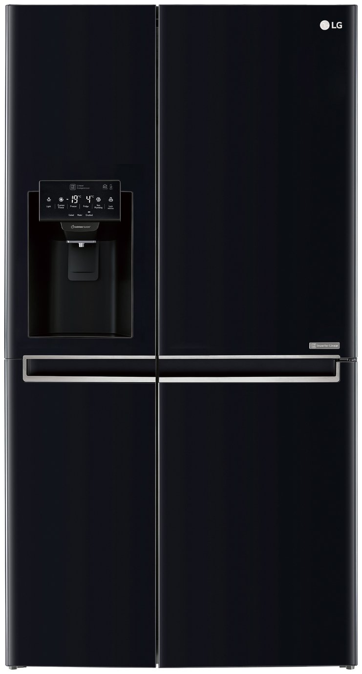 lg gsl761wbxv american style fridge freezer black