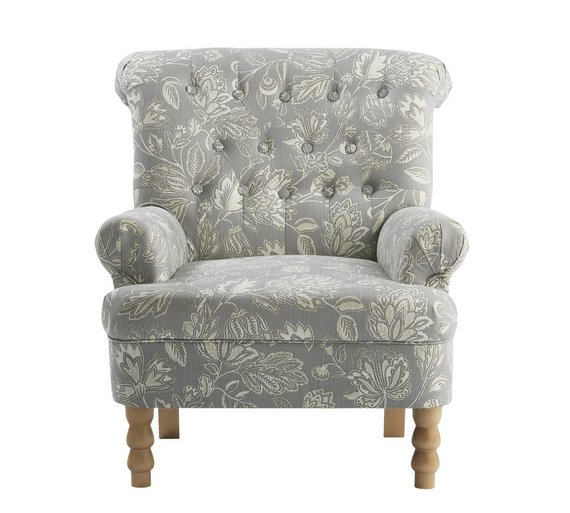 buy argos home darcy fabric armchair floral armchairs and chairs