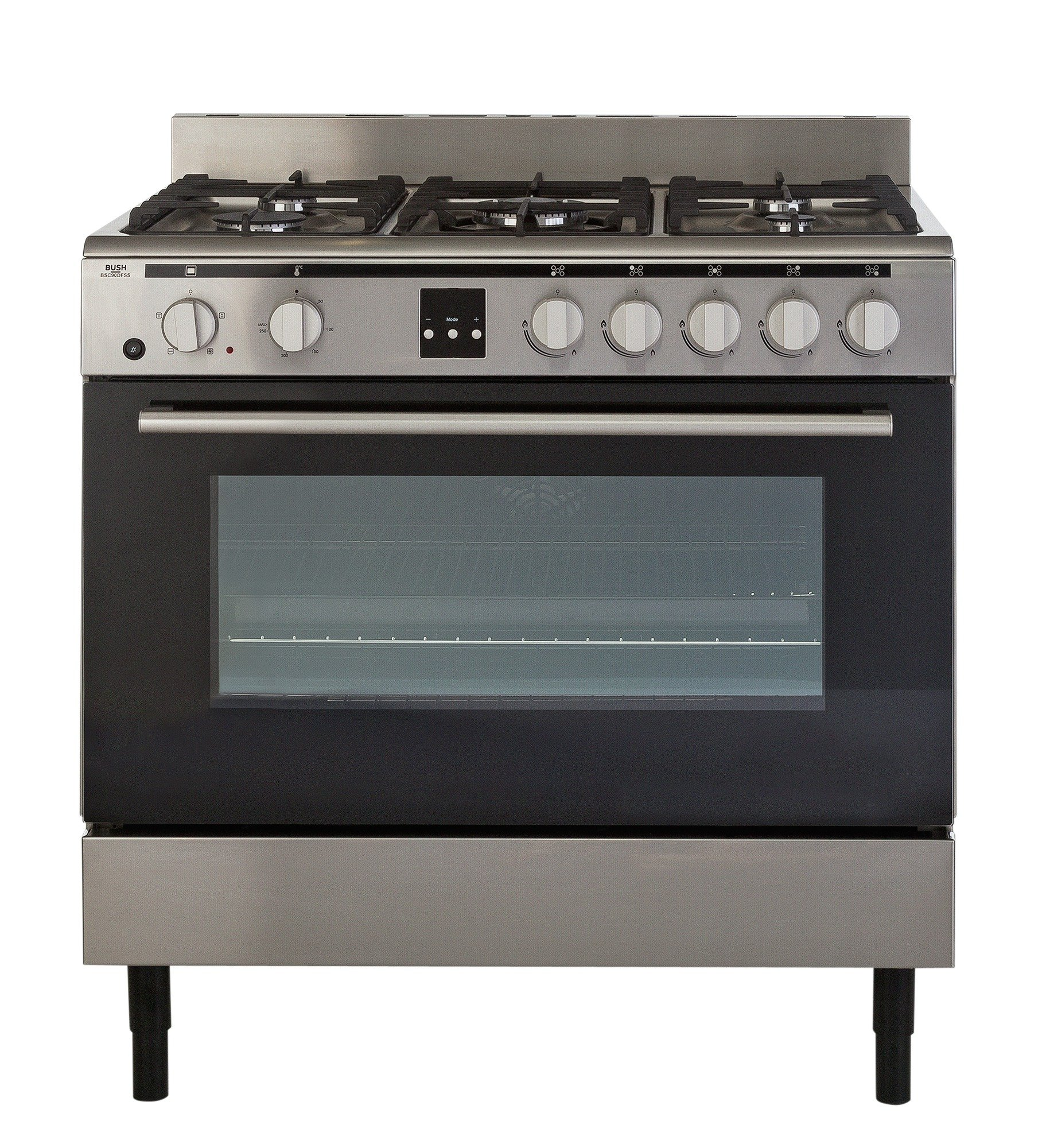 bush bsc90dfss dual fuel range cooker stainless. Black Bedroom Furniture Sets. Home Design Ideas