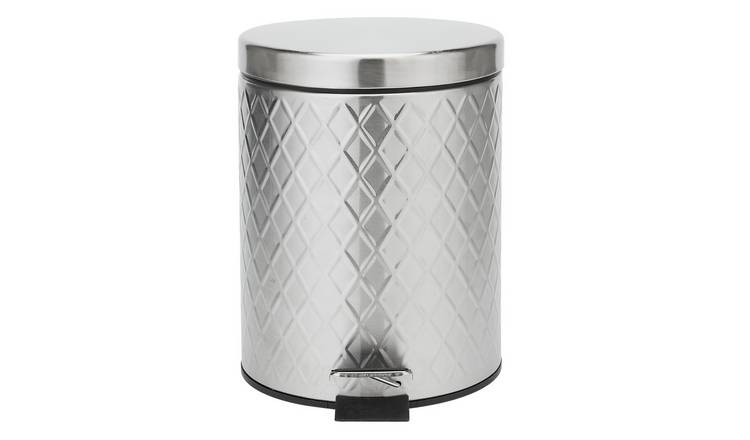 6f33cce1d060 Argos Home 5 Litre Bathroom Pedal Bin - Stainless Steel549/3557