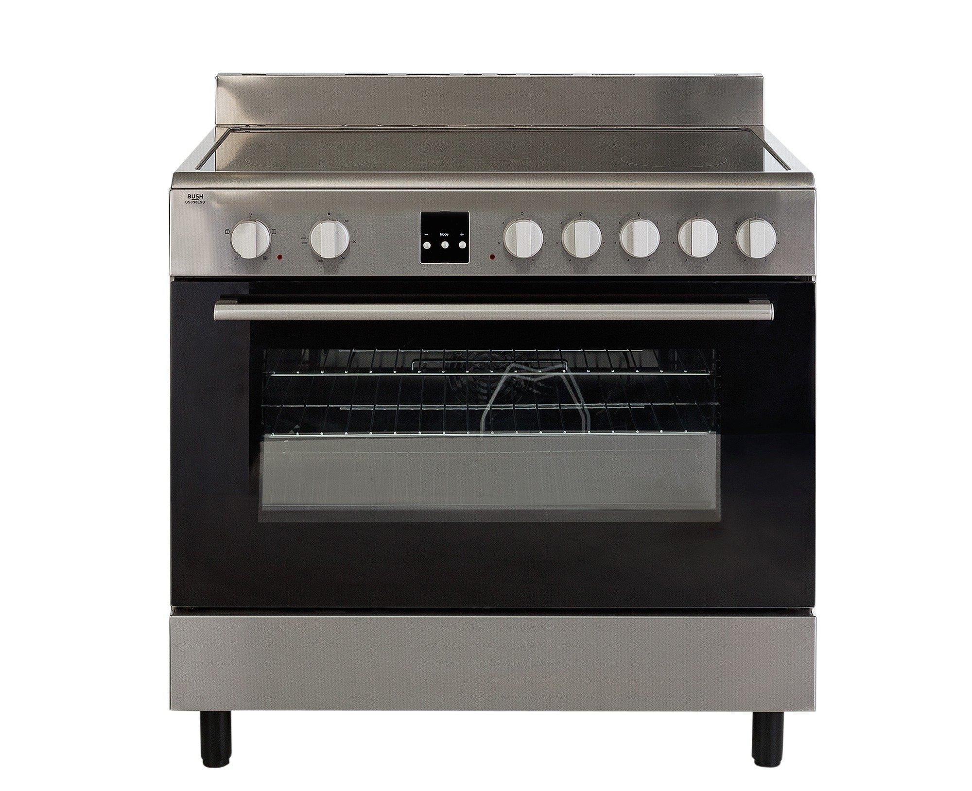 bush bsc90ess electric range cooker stainless steel 429. Black Bedroom Furniture Sets. Home Design Ideas