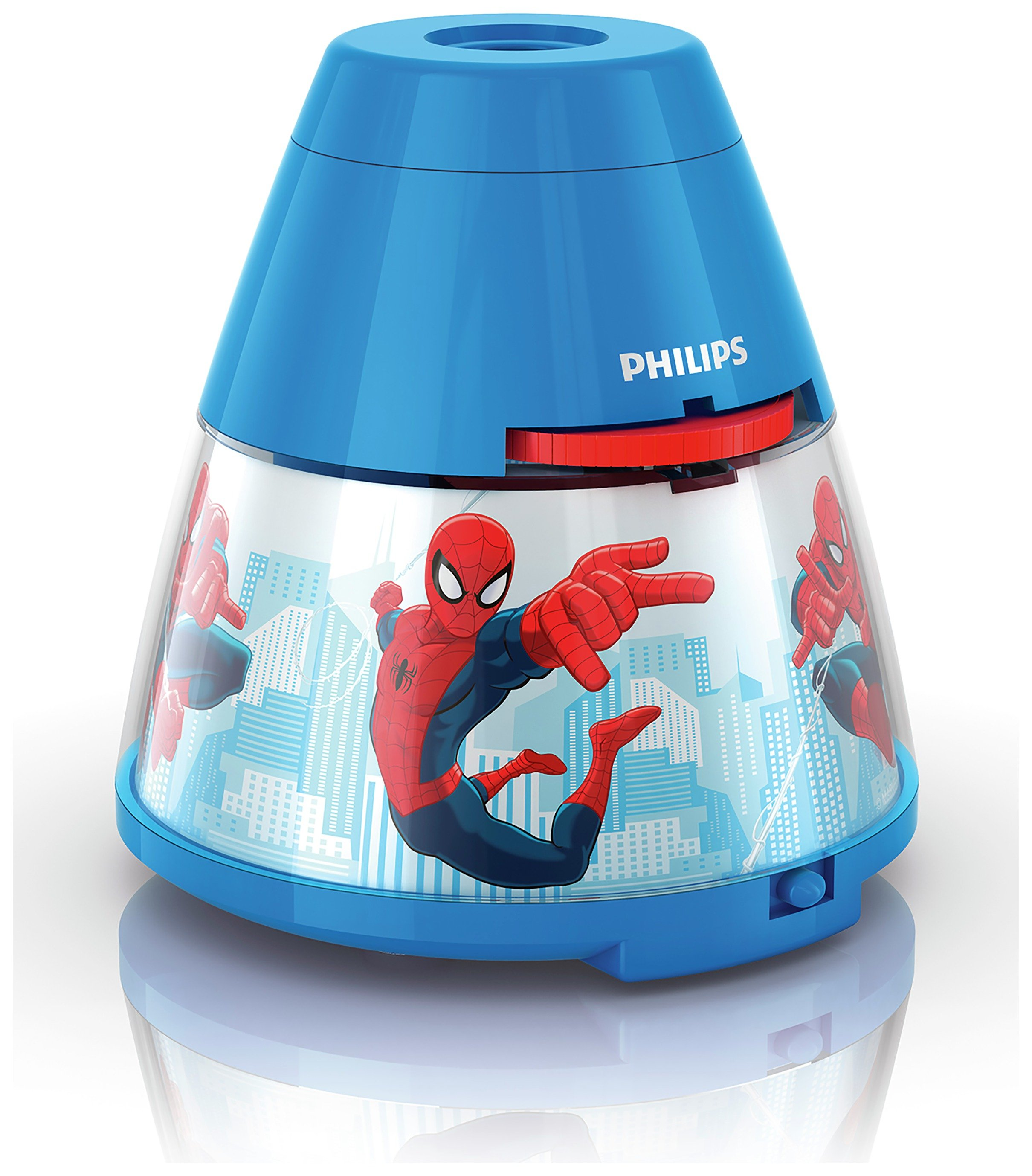 Image of Philips - Marvel Spider-Man LED Projector - Red