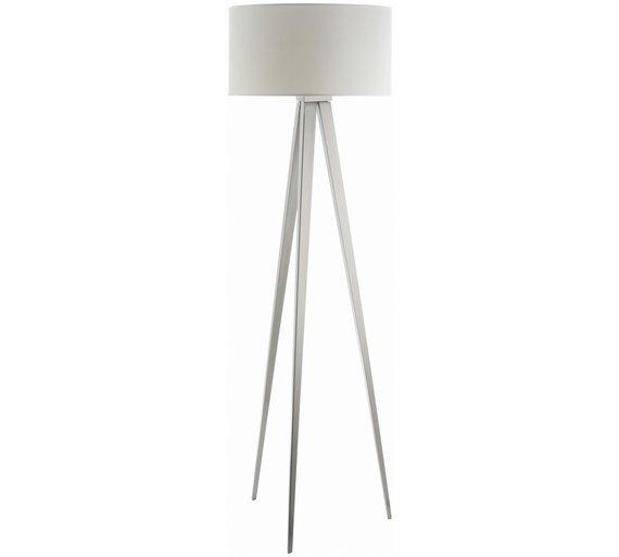 Buy Habitat Yves Metal Tripod Floor Lamp - White at Argos.co.uk ...