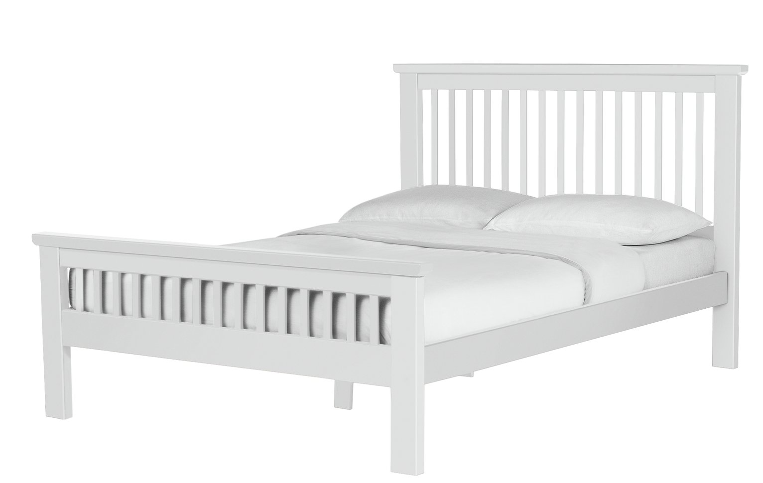 Buy Collection Aubrey Double Bed Frame White at Argoscouk