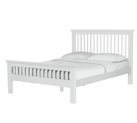 collection aubrey double bed frame white - Double Bed Frame