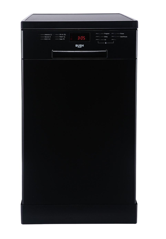 'Bush - Dwsl145w - Slimline Dishwasher - Black & Installation