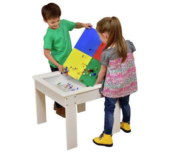 Buy Children S Wooden Play Table With Construction Block
