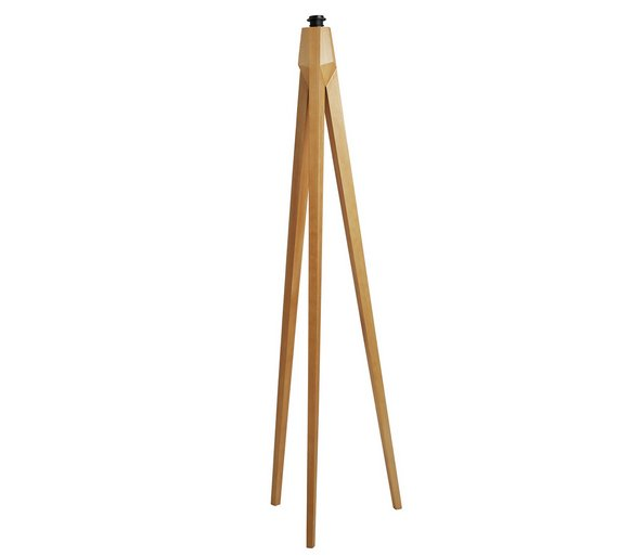 Buy Habitat Tripod Wooden Floor Lamp - Ash | Floor lamps | Argos