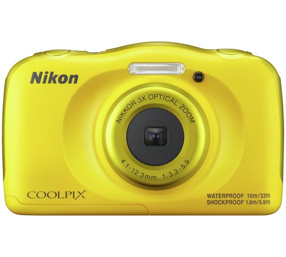 Buy Nikon CoolPix W100 13MP 3z Zoom Waterproof Camera - Yellow at ...