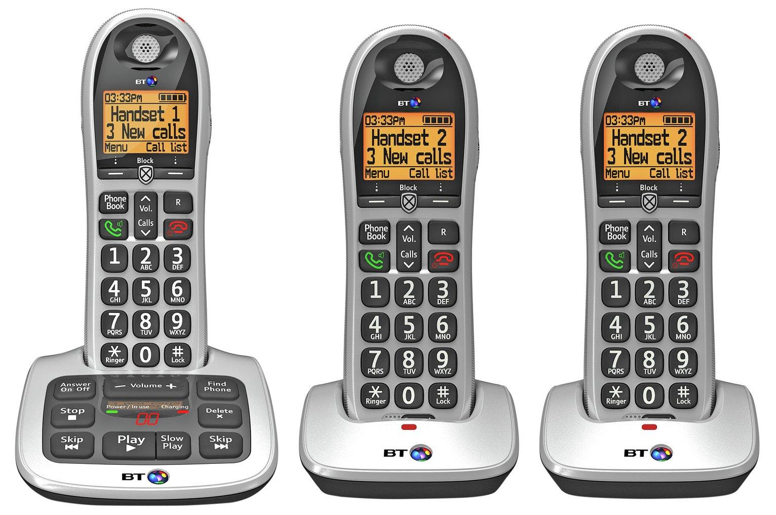 BT BT Big Button 4600 Telephone with Answer Machine - Triple.