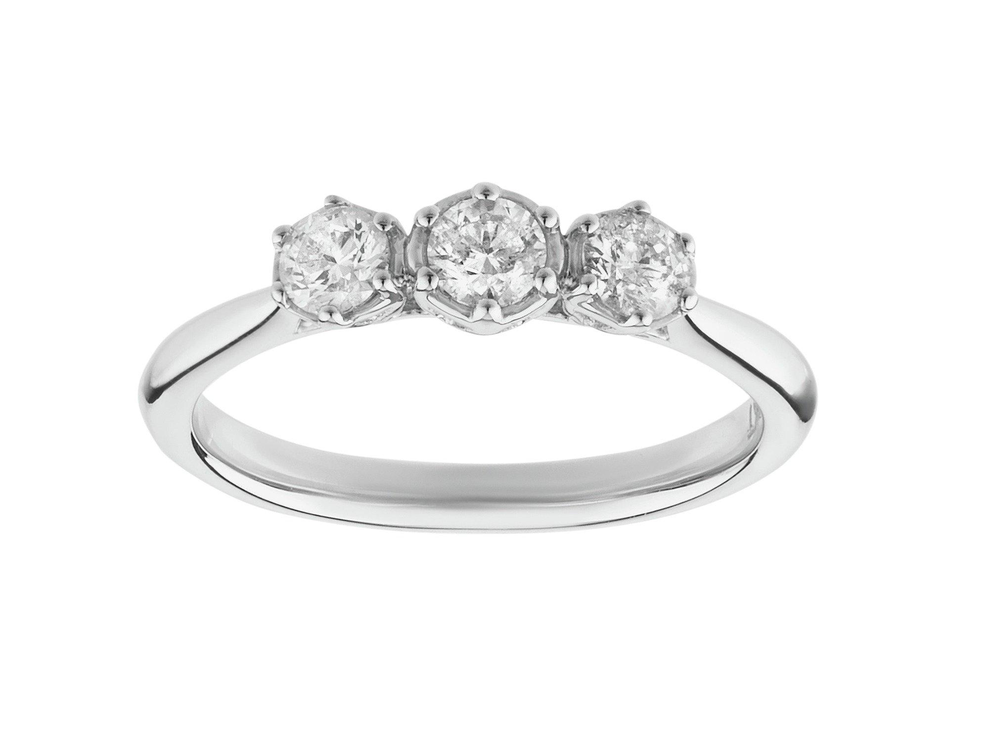 Image of Enchanted 9 Carat White Gold 050 Carat tw Diamond - Trilogy Ring