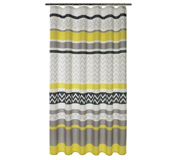 grey and aqua shower curtain. HOME Chevron Shower Curtain  Charcoal and Grey Buy