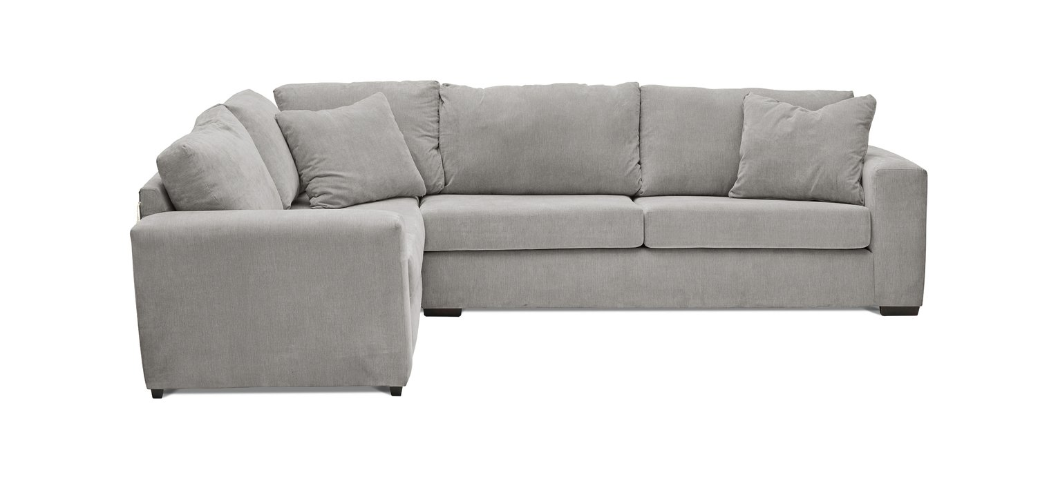 Argos Home Eton Left Corner Fabric Sofa - Grey