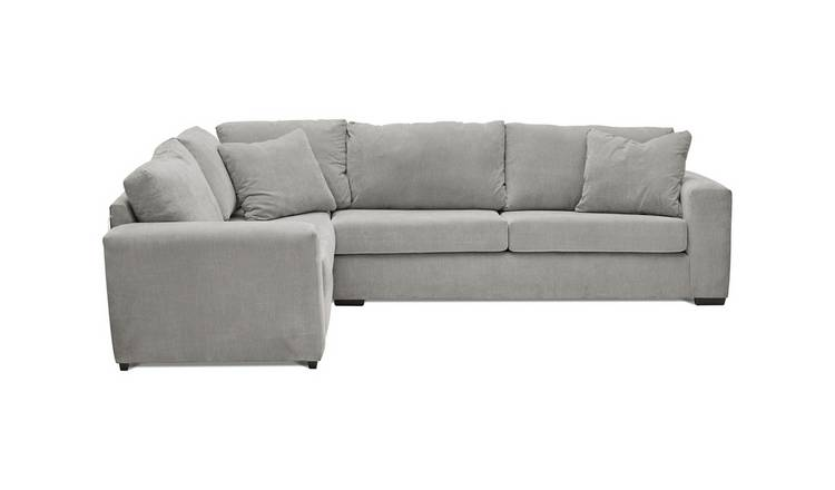 Habitat Eton Left Corner Fabric Sofa - Grey