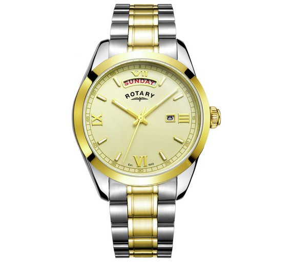 buy rotary men s two tone bracelet watch at argos co uk your rotary men s two tone bracelet watch549 8978