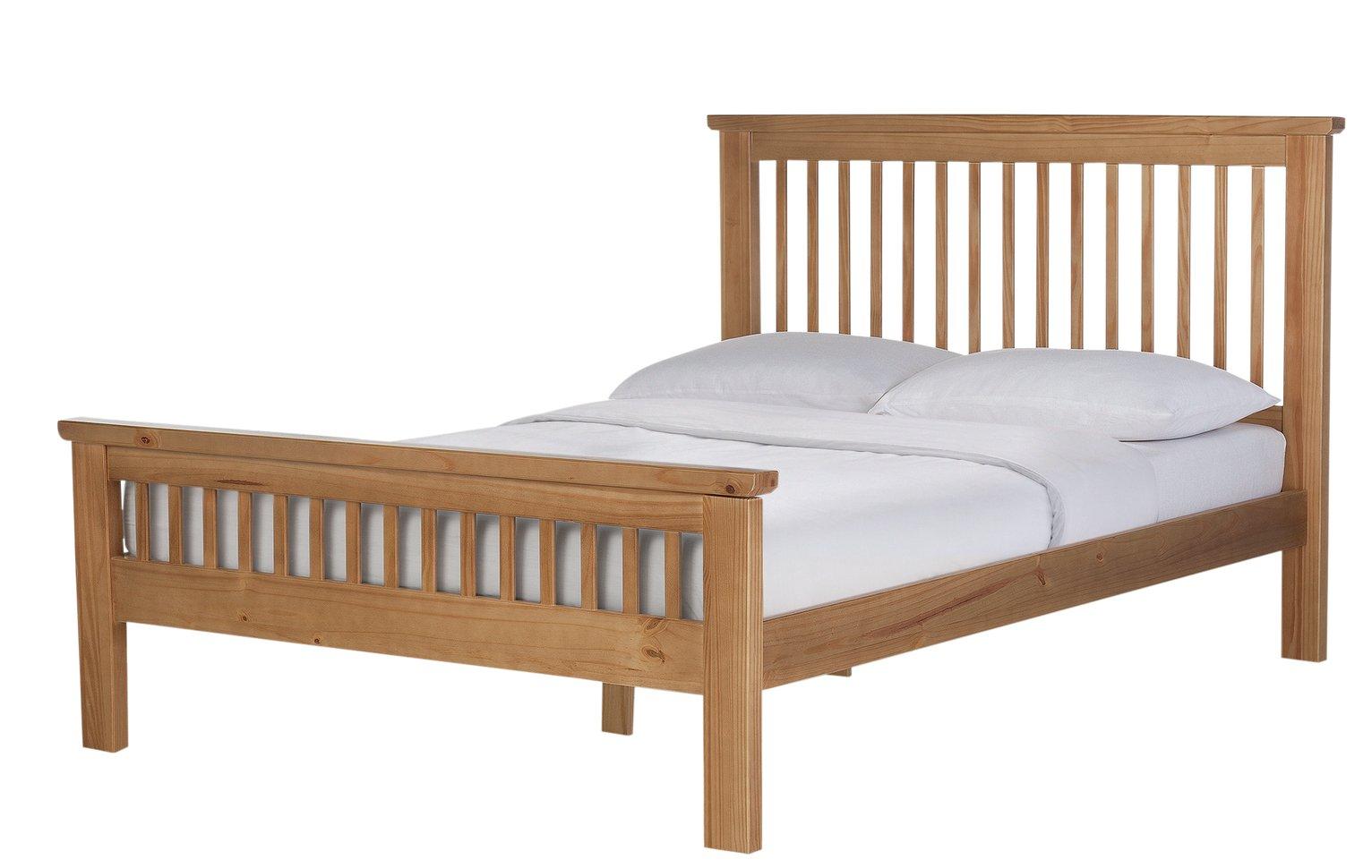 Argos Home Aubrey Double Bed Frame - Oak Stain