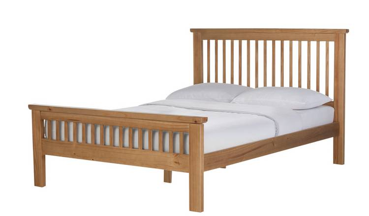Argos Home Aubrey Double Bed Frame - Oak Stain