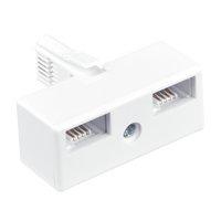 Masterplug UK Compact Telephone Adaptor - Double