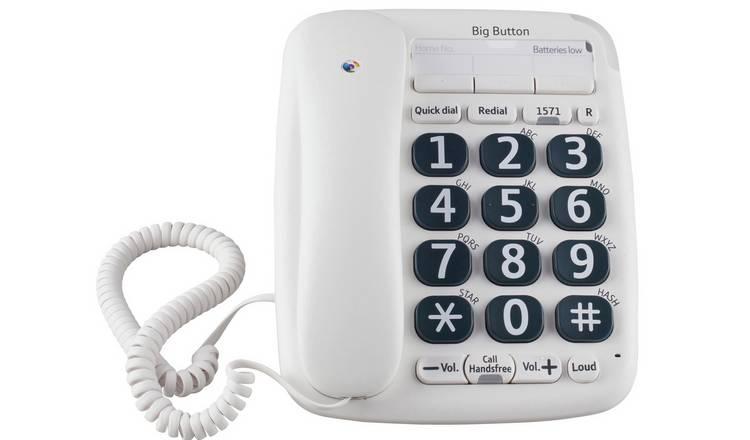 Buy BT 200 Big Button Corded Telephone - Single | Telephones | Argos