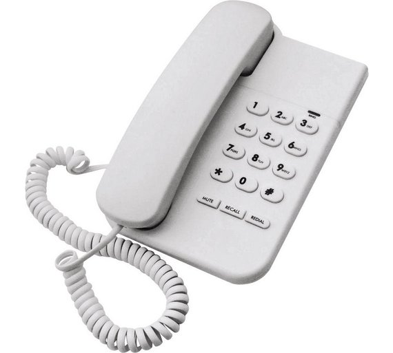 buy simple value corded desk telephone single telephones argos