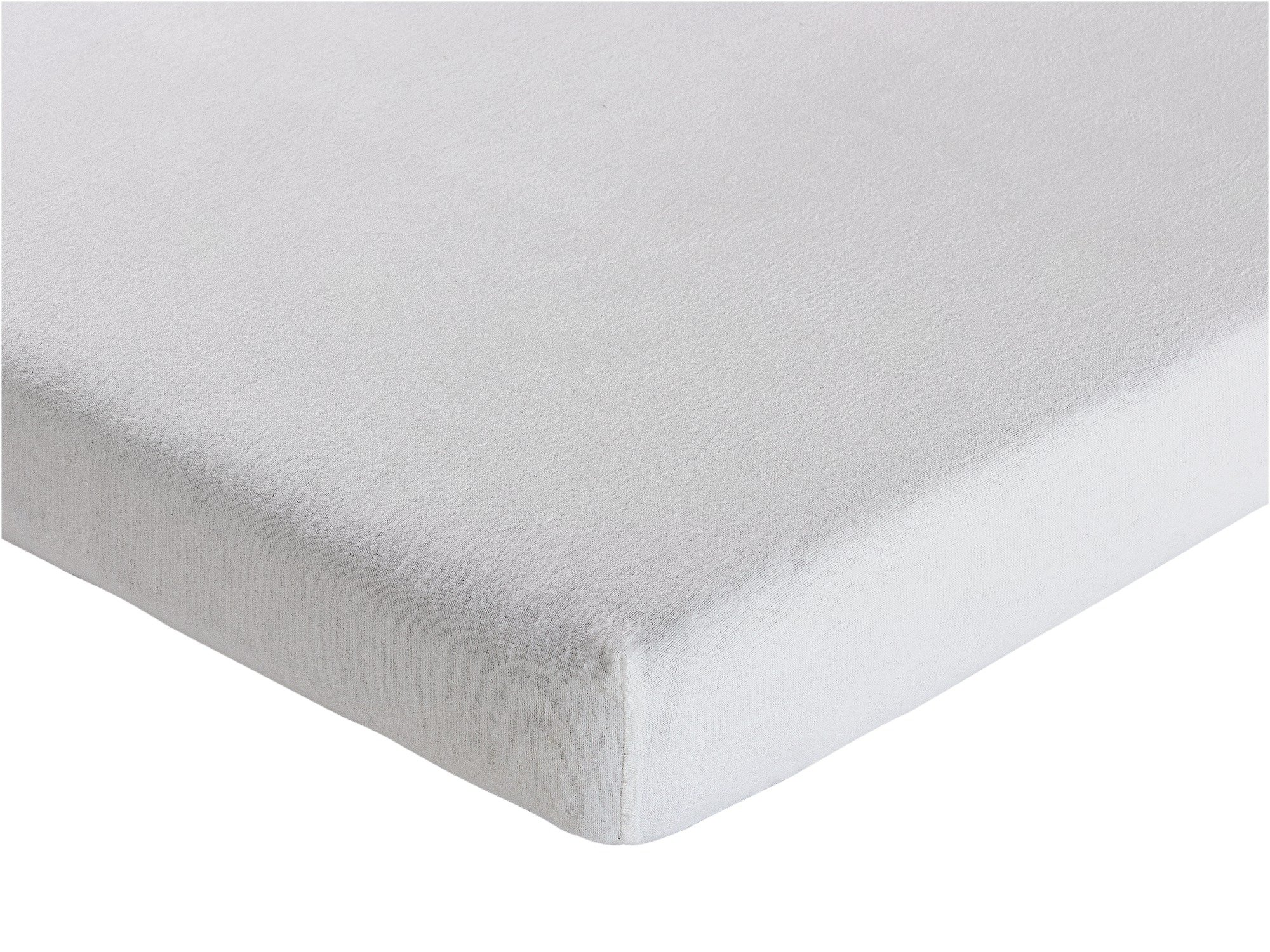 Collection - White Brushed Cotton Fitted - Sheet - Toddler