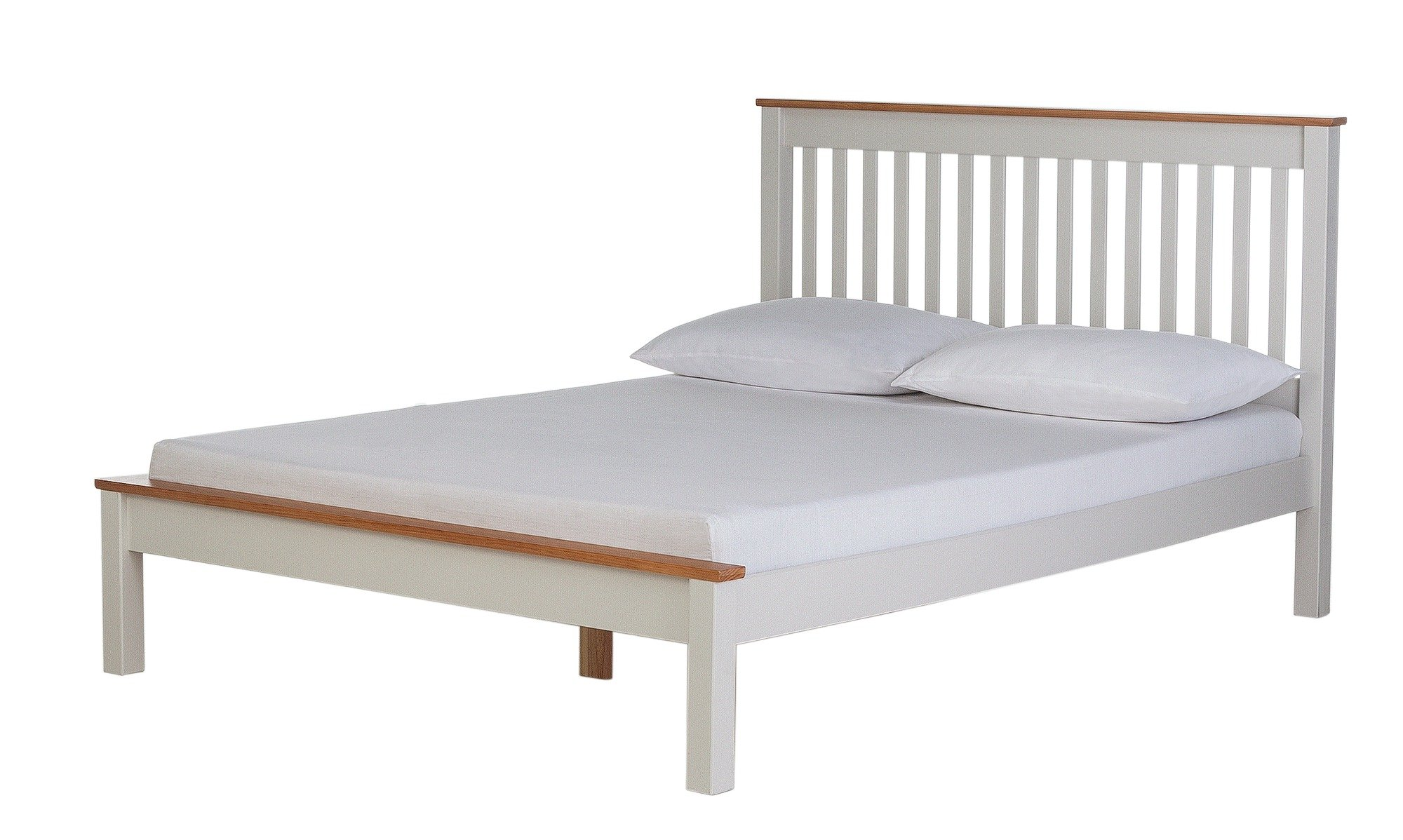 Image of Collection Aspley Double Bed Frame - Two Tone