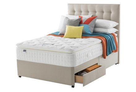 Silentnight Knightly 2800 Pkt Memory Pillowtop Double 2 Drw