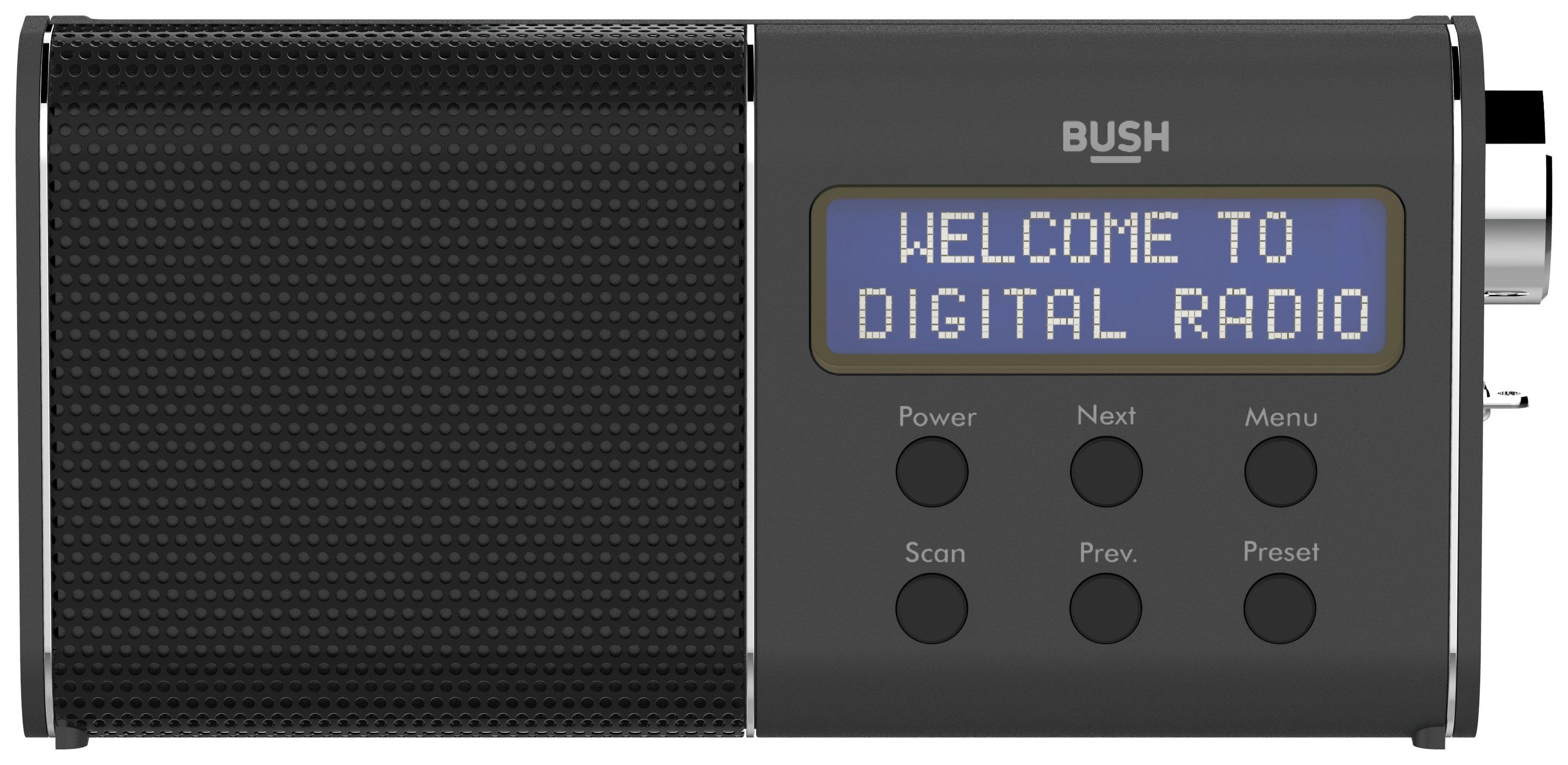 'Bush - Compact Rechargeable Dab/fm Radio - Black