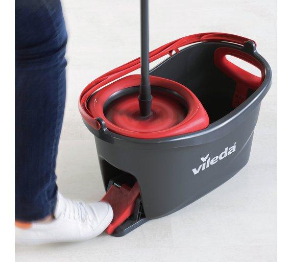 vileda easy wring and clean turbo mop and bucket hassle of bending applying set ebay. Black Bedroom Furniture Sets. Home Design Ideas