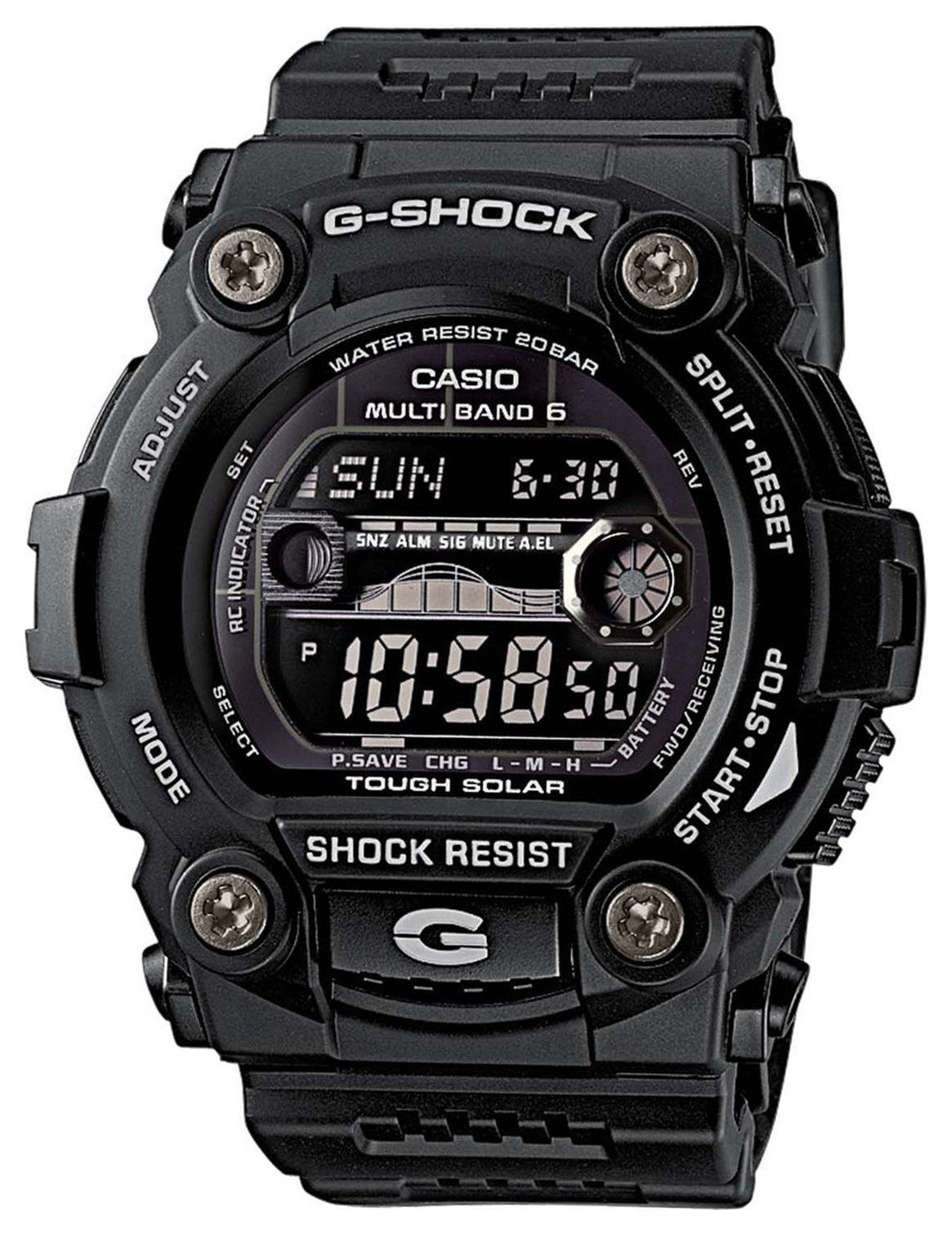 Casio G-Shock Men's Black Resin Radio Controlled Solar Watch