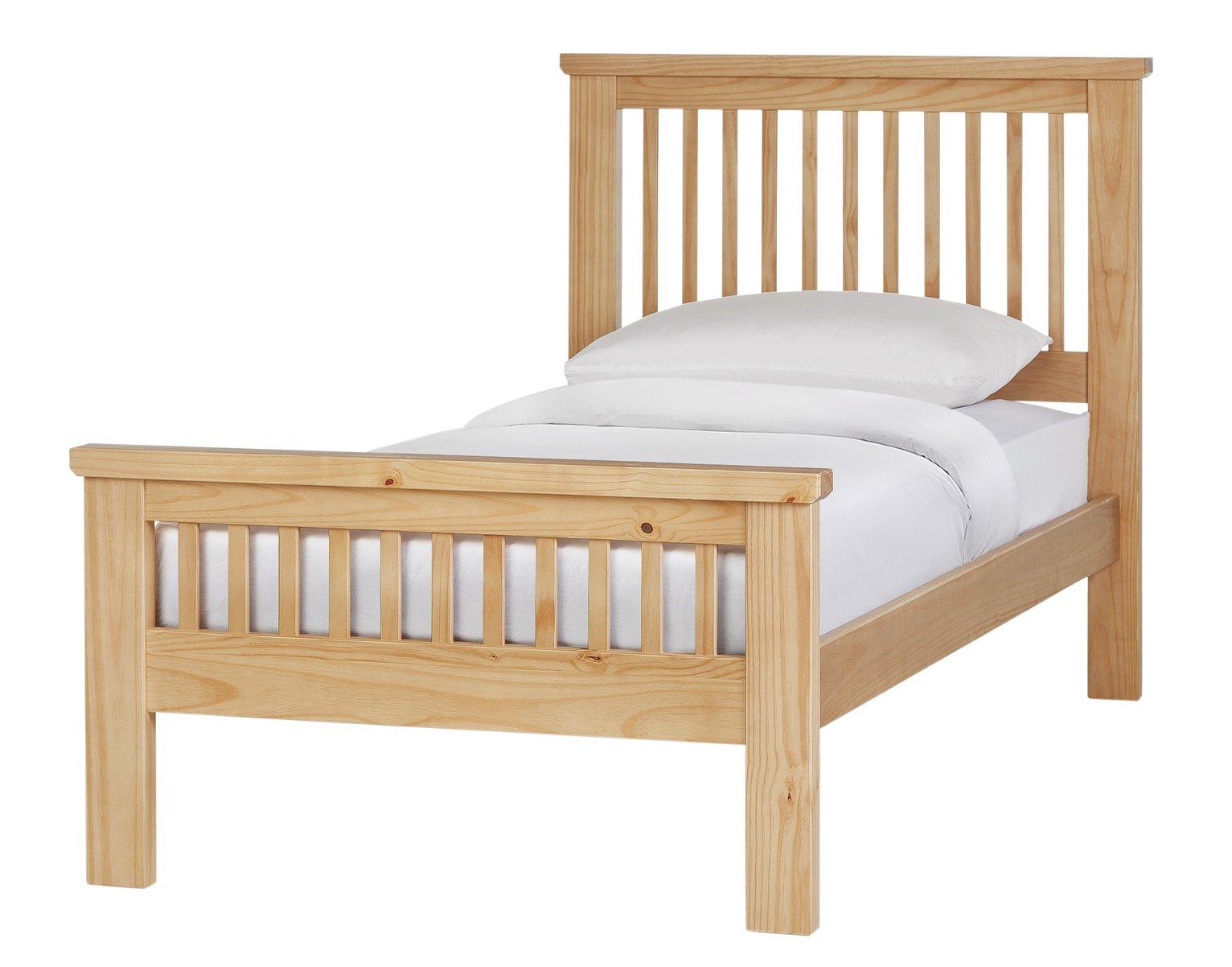 Argos Home Aubrey Single Bed Frame - Oak Stain