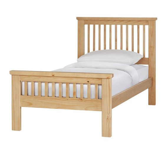 collection aubrey single bed frame oakstain5532975