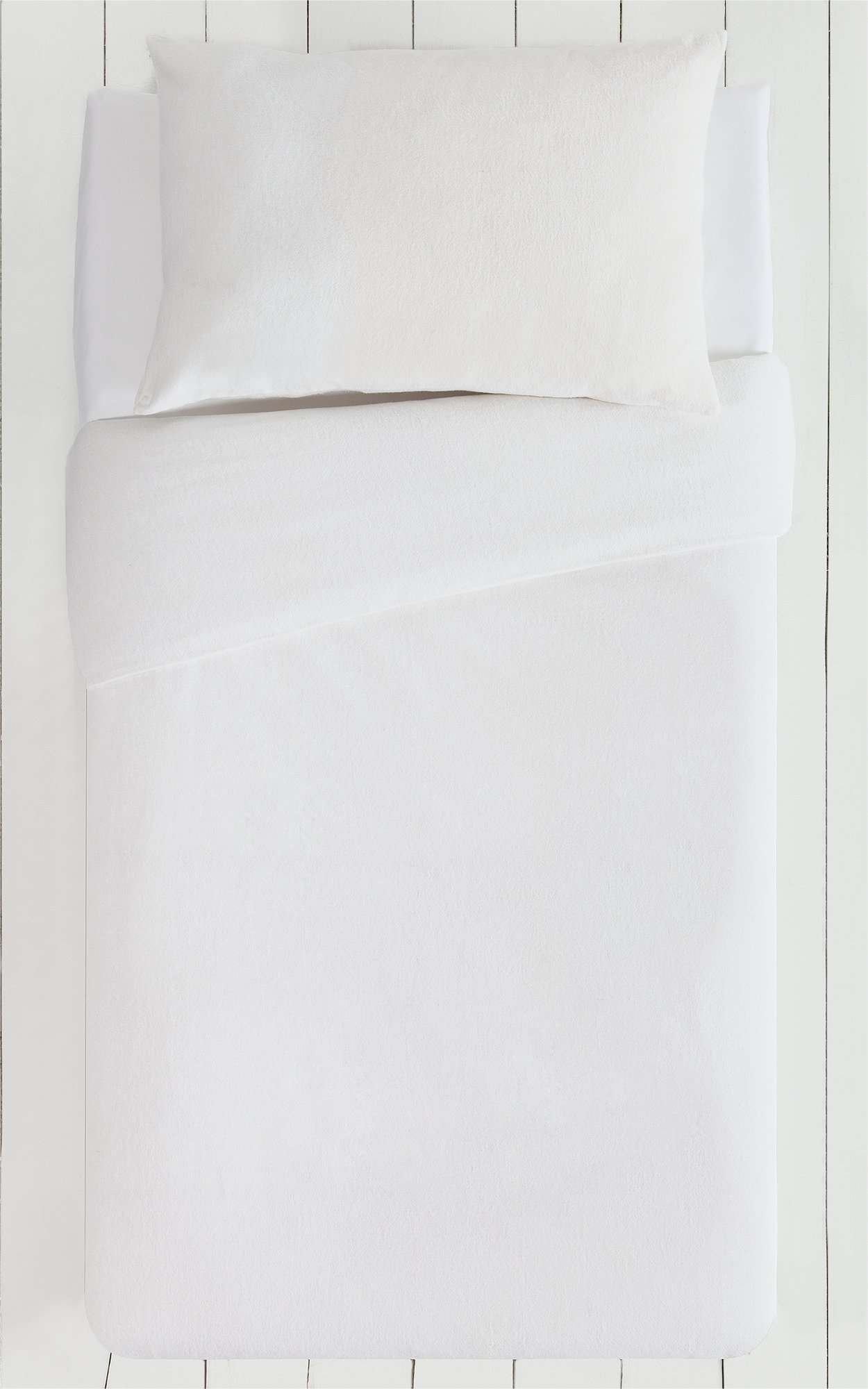 Collection - White Brushed - Cotton - Bedding Set - Toddler