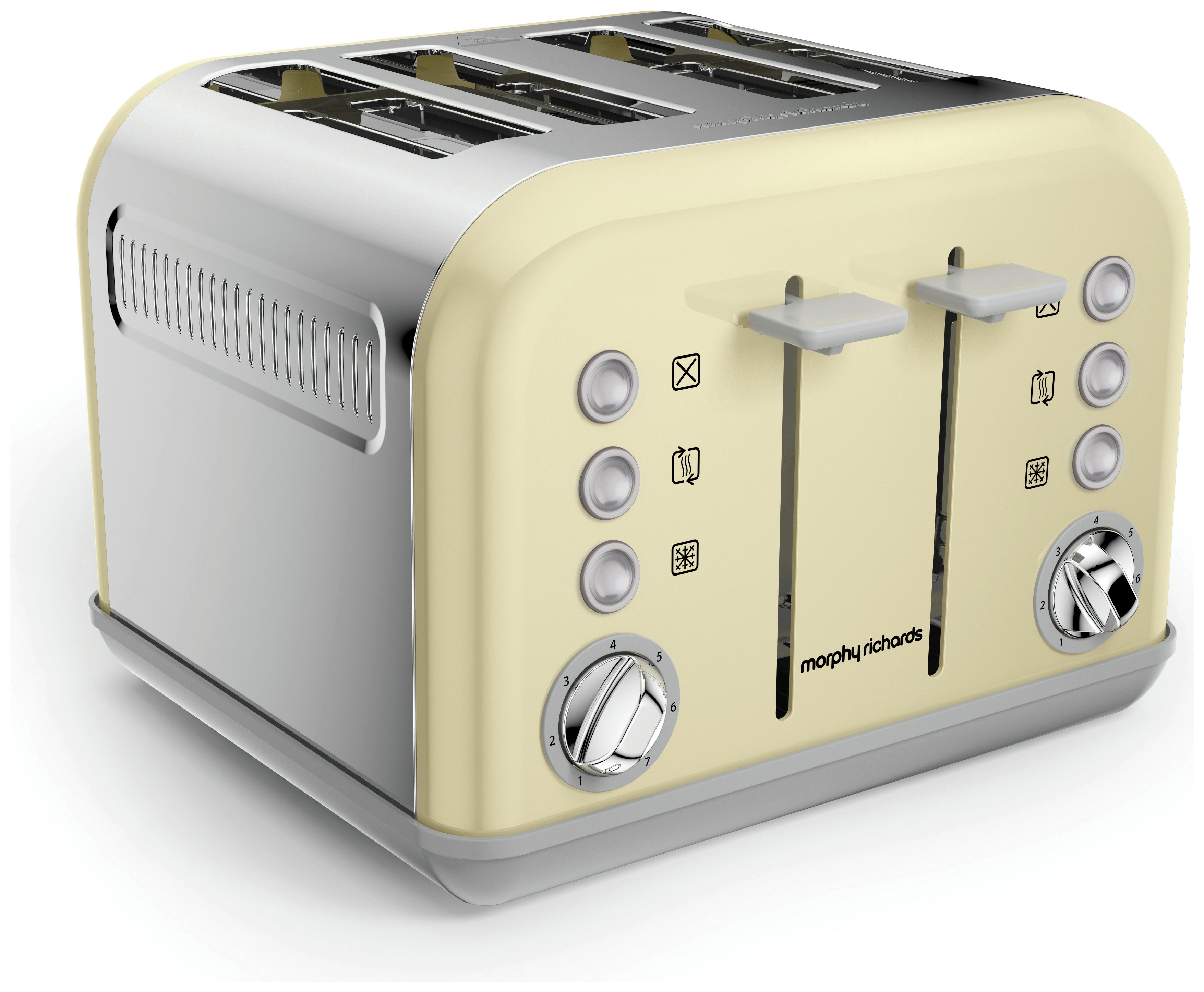 'Morphy Richards - Toaster - 242033 Accents - 4 Slice - Cream
