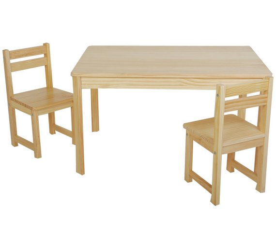 Buy Tikk Tokk Little Boss Nursery Table And Chairs Set Natural - Nursery tables and chairs