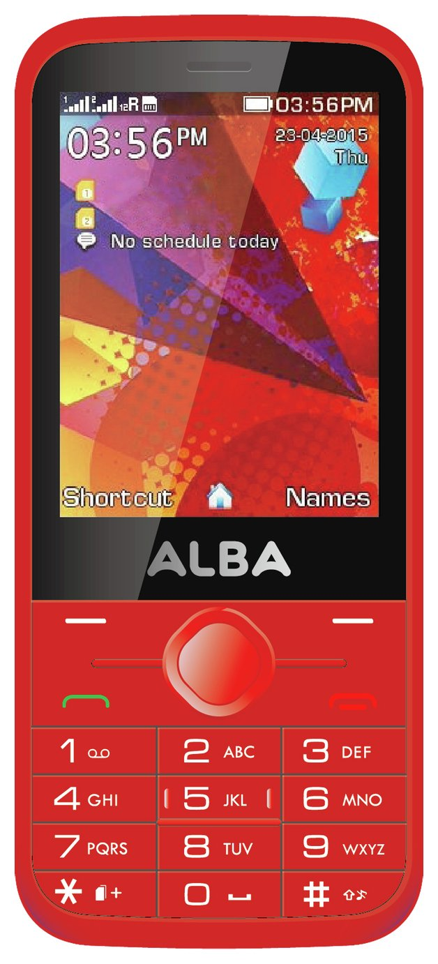 Image of Sim Free Alba 2.8 Inch Mobile Phone - Red