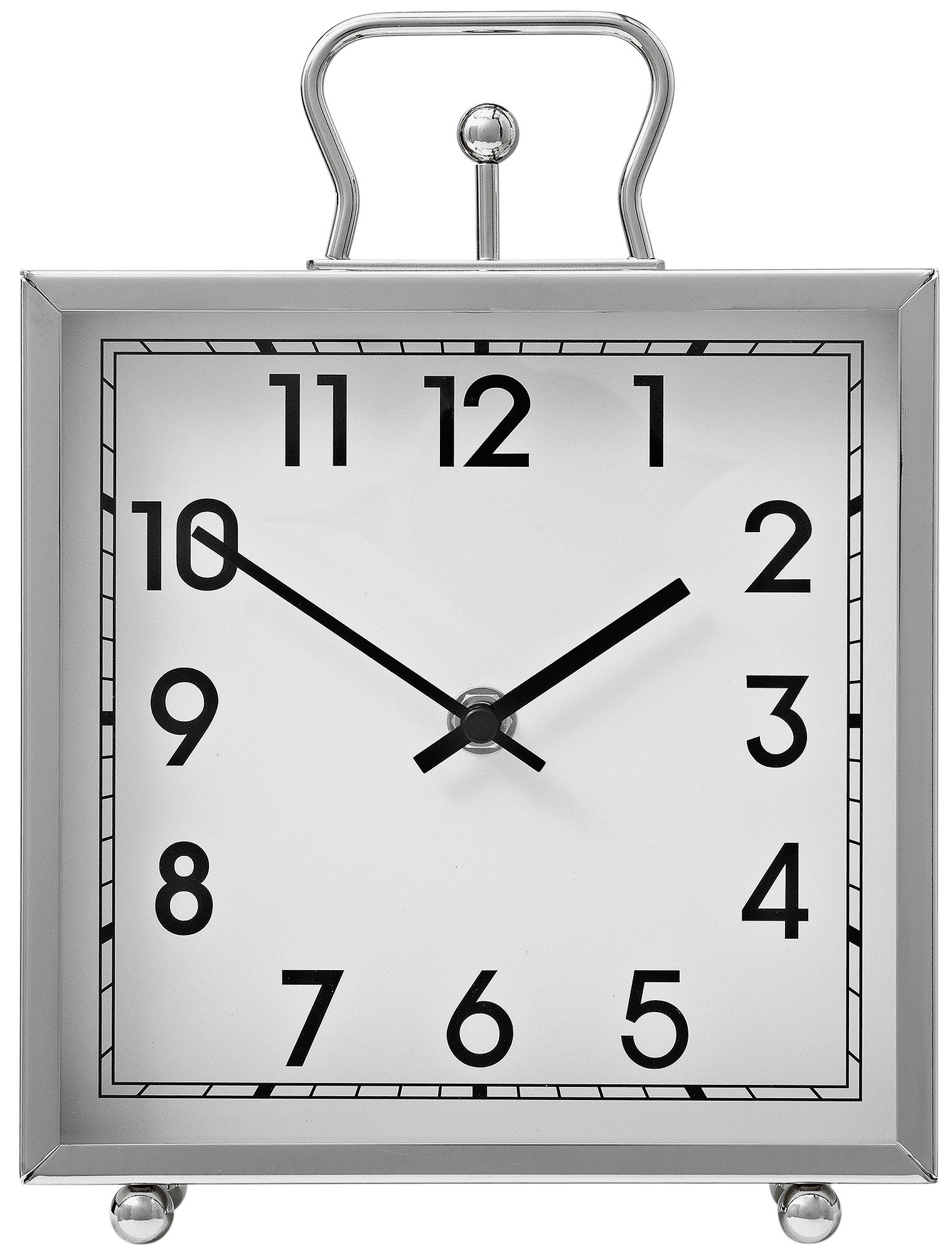 Heart of House Tuscany Square Mantel Clock - Silver.