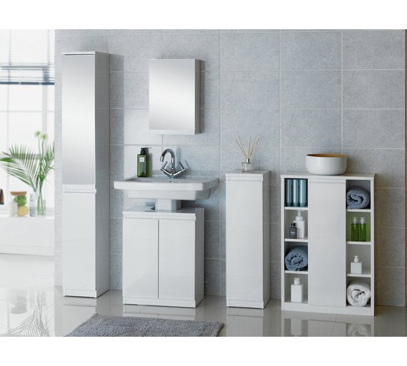 buy hygena gloss floor cabinet storage white at