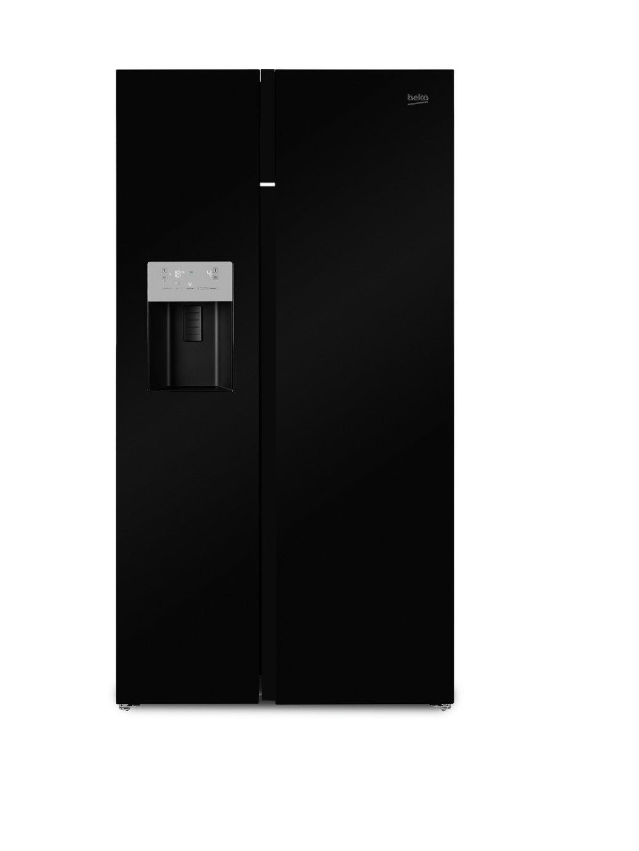 Image of Beko ASGN542B American Style Fridge Freezer - Black.