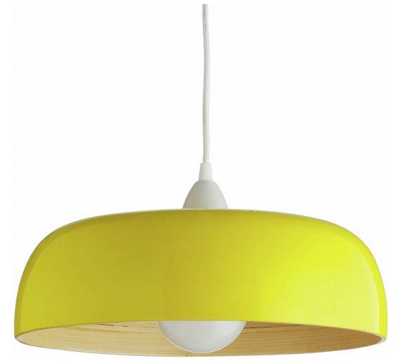 Buy habitat moxley spun bamboo high gloss pendant lampshade lamp click to zoom aloadofball Images