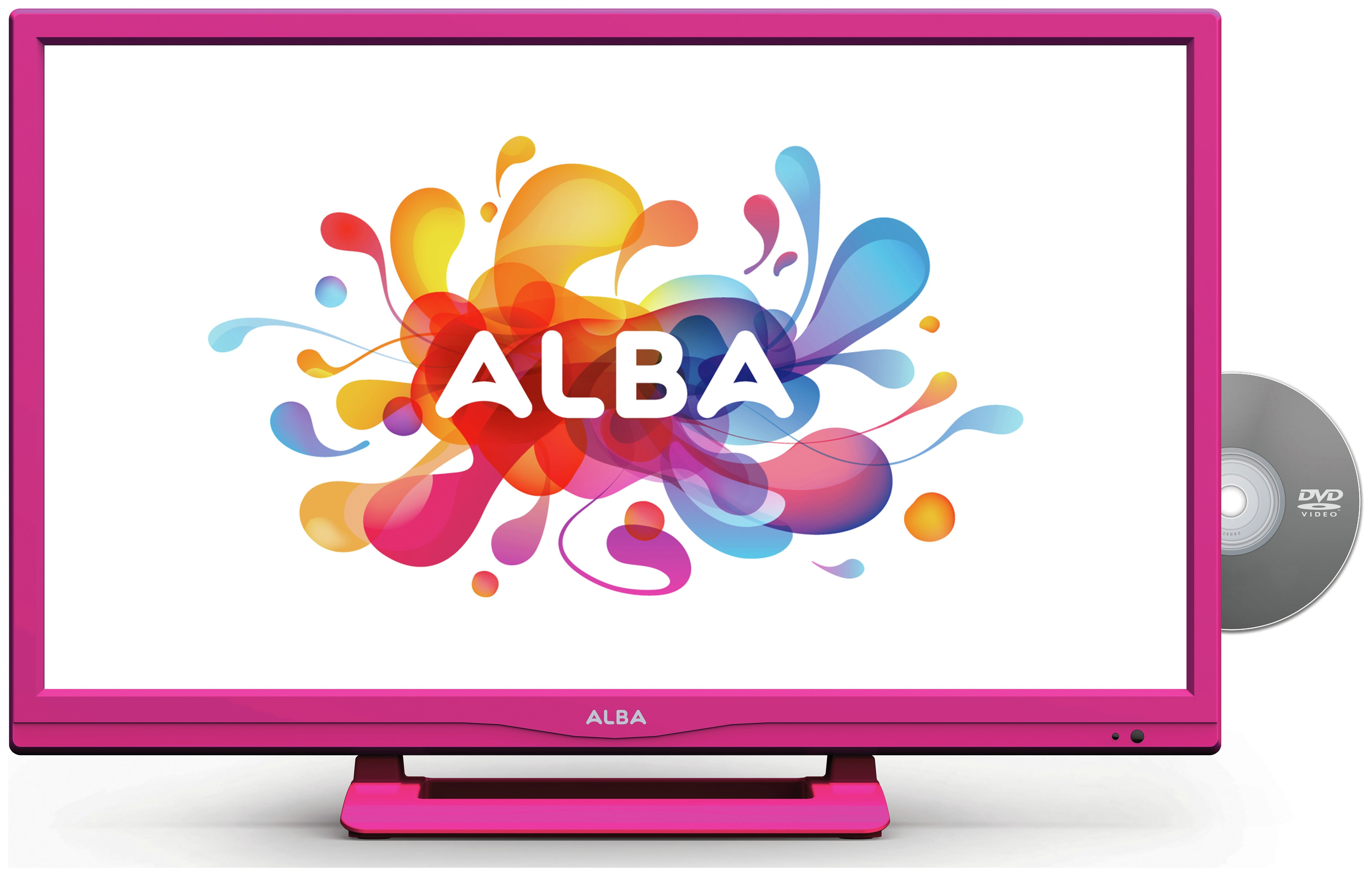 Image of Alba 24 Inch HD Ready LED TV/DVD Combi - Pink