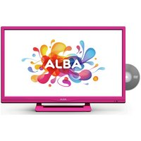 Alba 24'' 720p HD Ready Pink LED TV with Built-In DVD