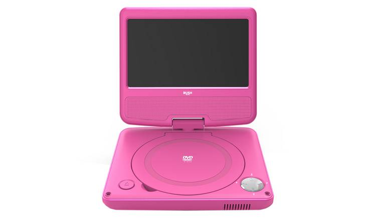 Bush 7 Inch Portable In - Car DVD Player - Pink