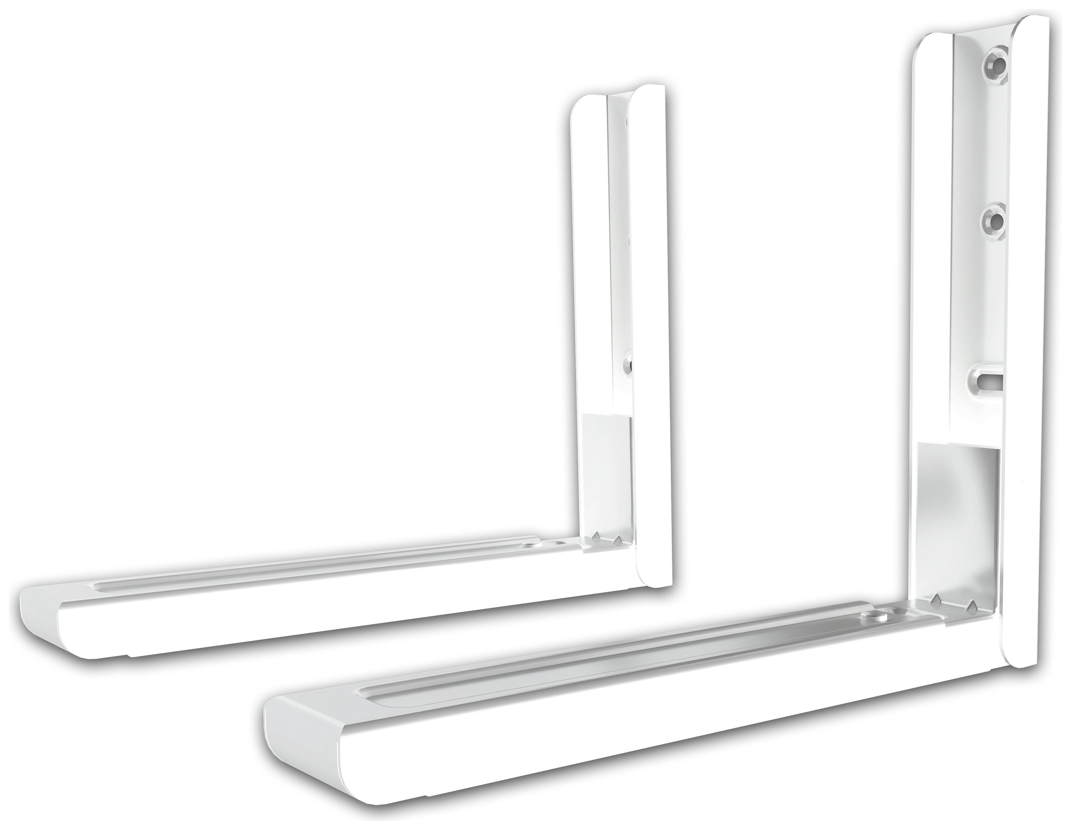 Universal Microwave Wall Bracket - White