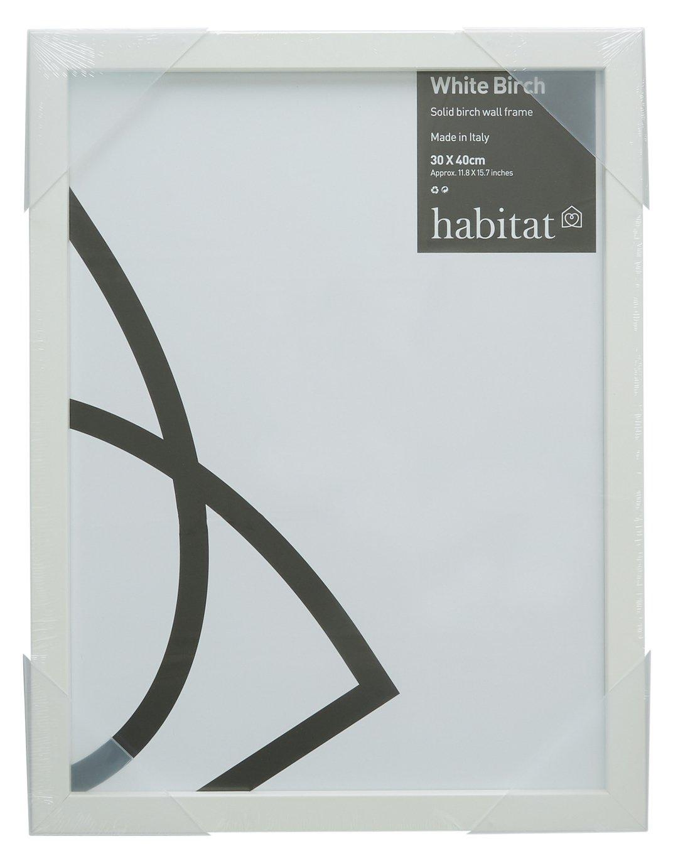 Image of Habitat 30x40cm Wall Frame - White Birch.