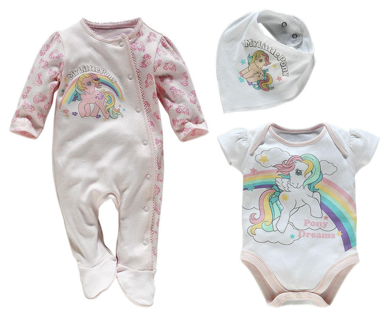 Image of My Little Pony - Pink 3 Piece Baby - Gift Set ? 0?3 Months