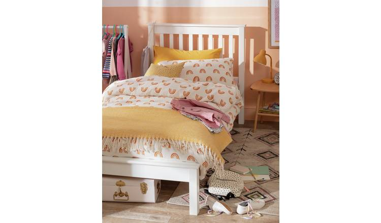 Argos Home Aspley Single Bed Frame and Kids Mattress - White