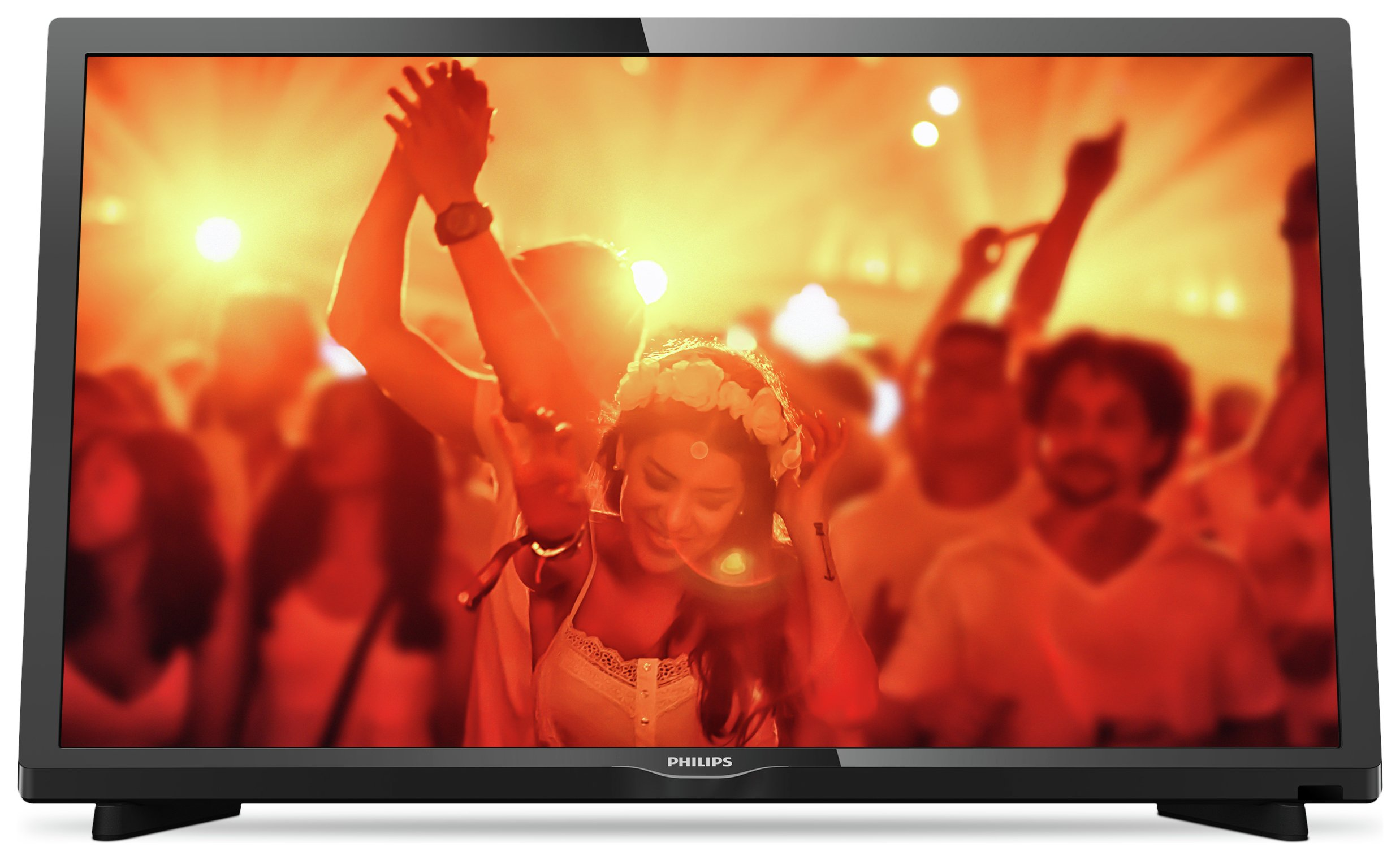 Philips - 24 Inch - 24PHT403105 - HD Ready FVHD TV. - Black