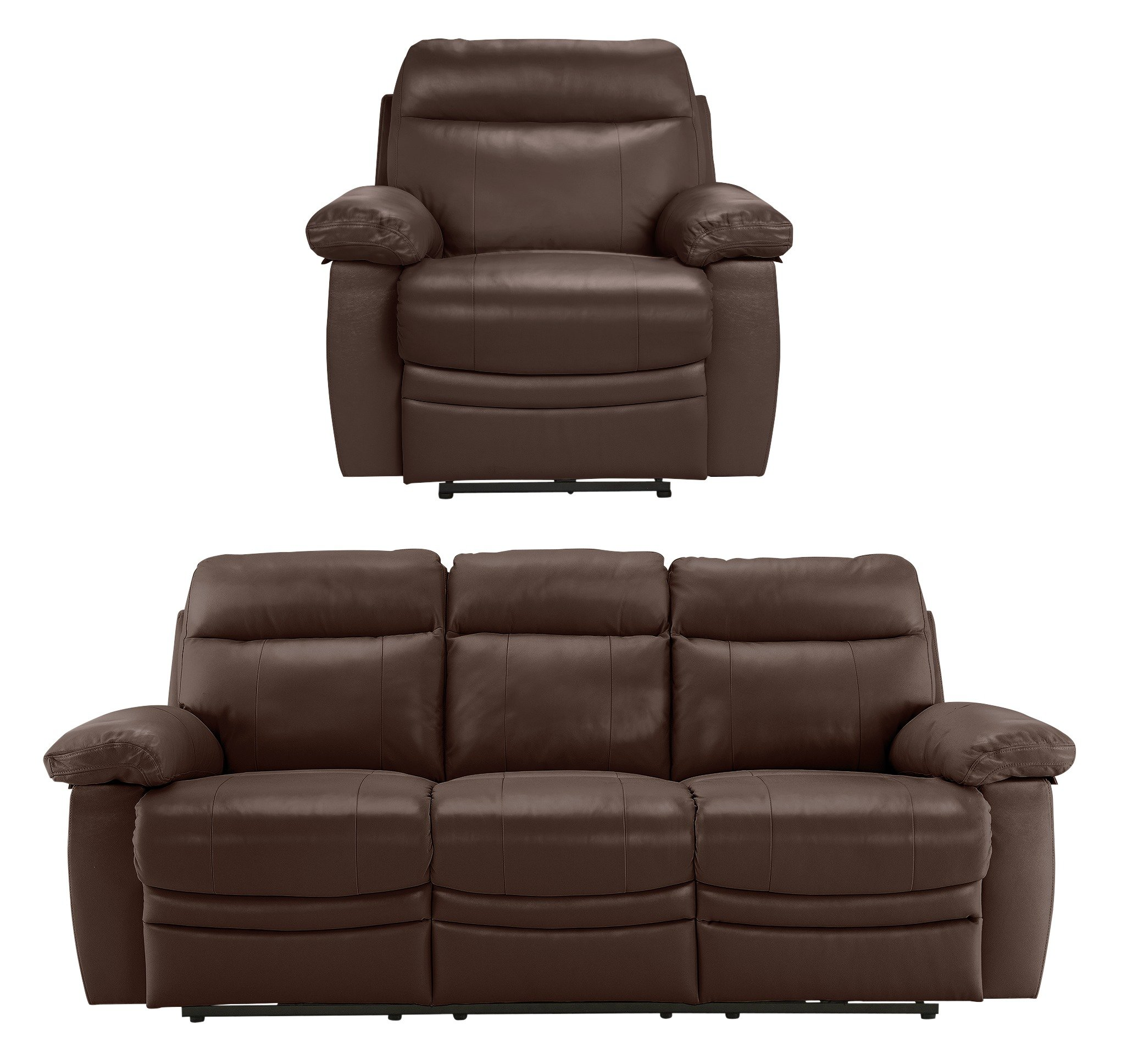 Argos Home - New Paolo Large Power Recliner - Sofa/Chair - Choc